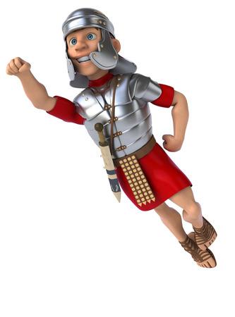 the roman empire: Roman legionary soldier Stock Photo