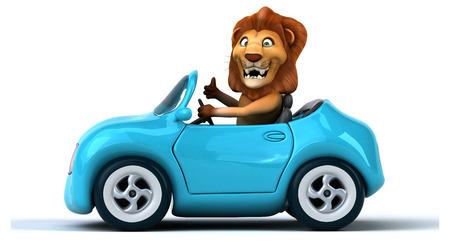 zoo traffic: Fun lion
