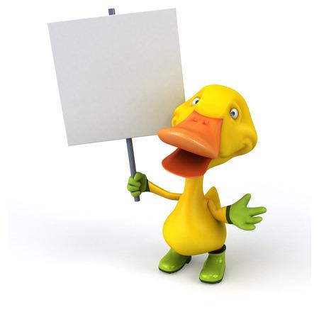 horticulturist: Fun duck Stock Photo