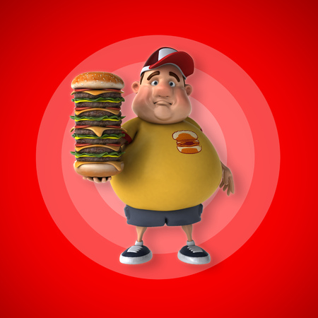 fatness: Big kid Stock Photo