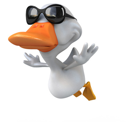 quack: White duck