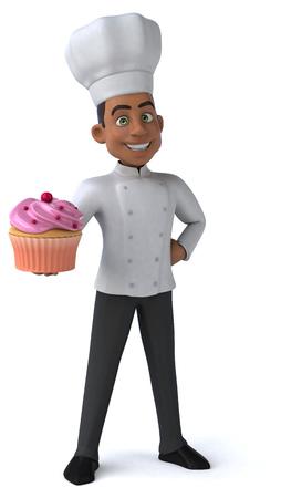 cocina caricatura: Diversi�n chef  Foto de archivo