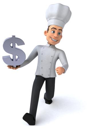 cocinero italiano: Diversi�n chef  Foto de archivo