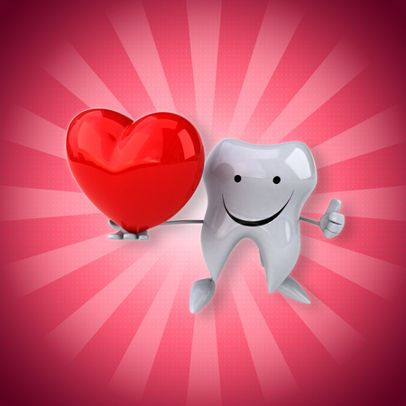 Smiling tooth with heart