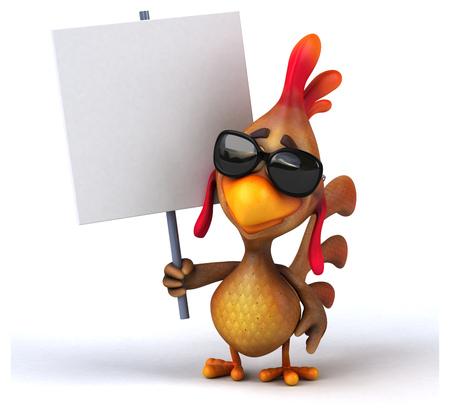 cartoon bird: Fun chicken