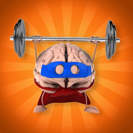 conscious: Super brain Stock Photo