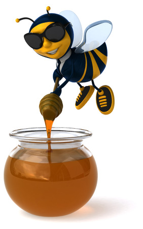 miel de abeja: abeja de la diversión
