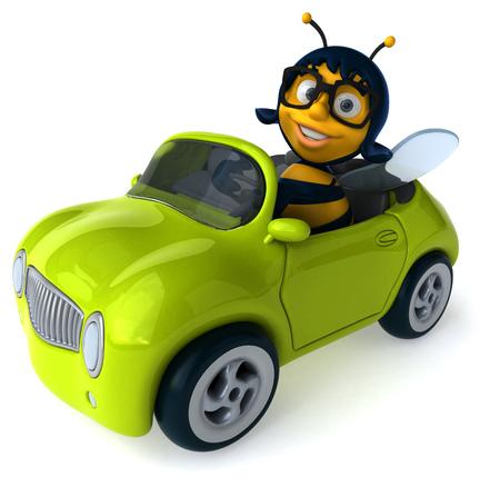 car speed: Fun bee Stock Photo