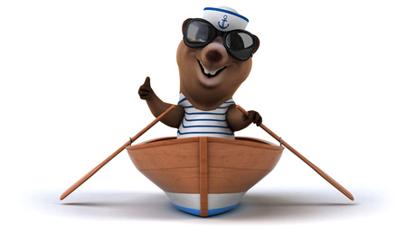 seaman: Fun bear Stock Photo