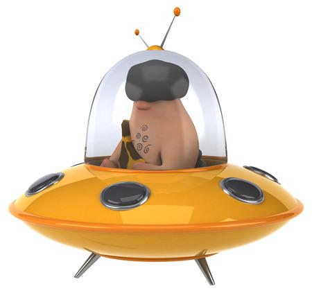 space invader: Fun caveman