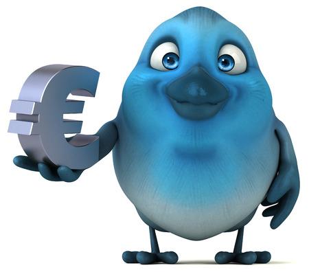 communicate  isolated: Blue bird