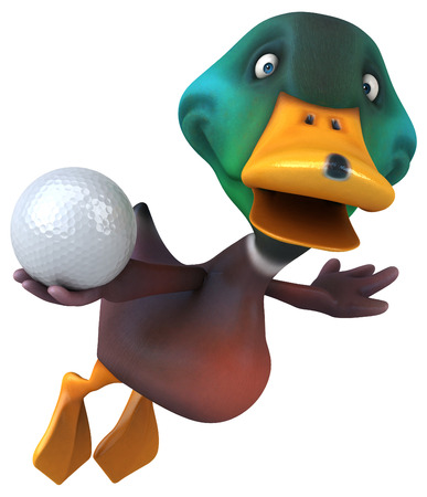 waterbird: Fun duck Stock Photo