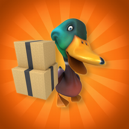 duck green: Fun duck Stock Photo