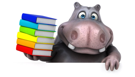 overweight students: Fun hippo