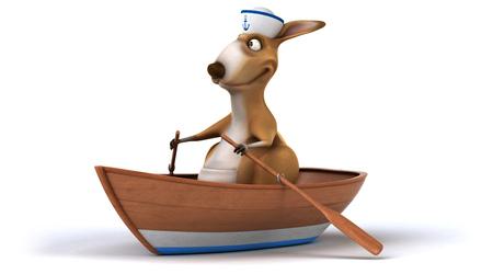seaman: Fun kangaroo Stock Photo
