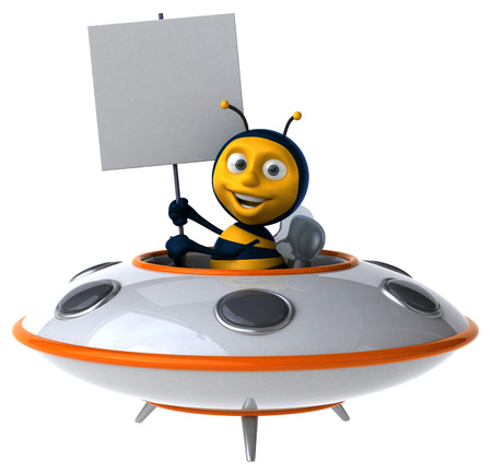 space invader: Fun bee Stock Photo