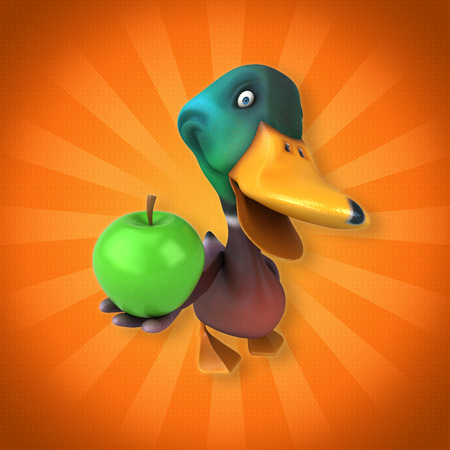 wildfowl: Fun duck Stock Photo
