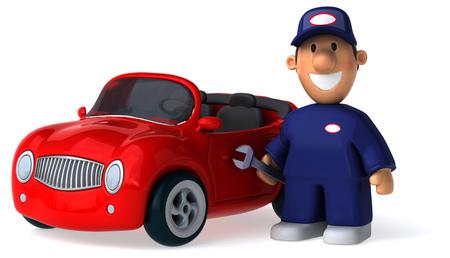service man: Fun car