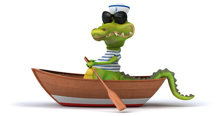 ocean and sea: Fun crocodile