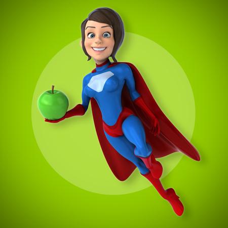 perfect female body: Super woman Stock Photo