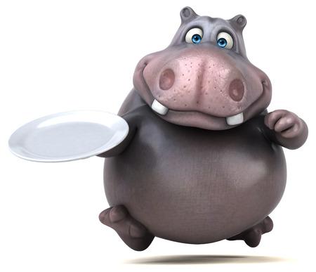 intermittent: Hippo Stock Photo