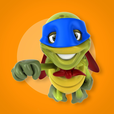 slower: Super turtle Stock Photo