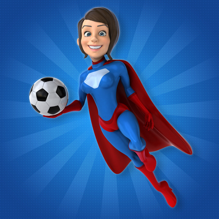 costume ball: Super woman Stock Photo