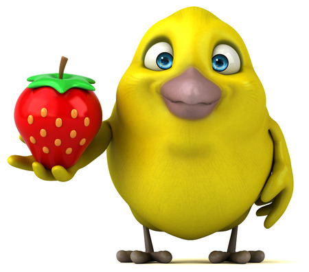 cartoon orange: Fun bird