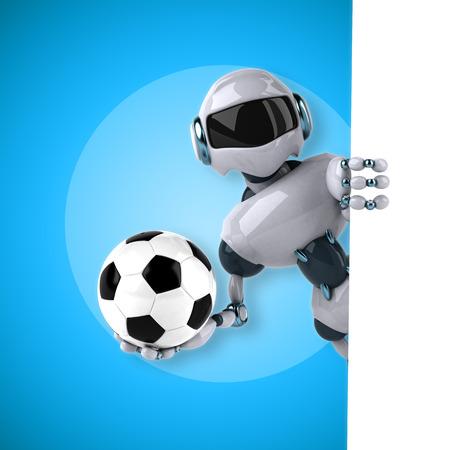 chrome ball: Robot Stock Photo