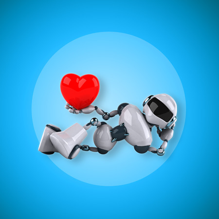 heart intelligence: Robot Stock Photo