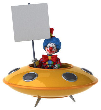 space invader: Fun clown