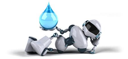 waterdrops: Robot Stock Photo