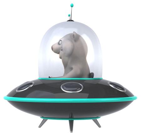 space invader: Fun bear Stock Photo