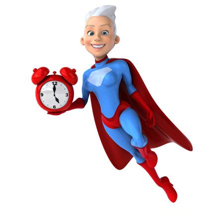 lady clock: Super woman Stock Photo