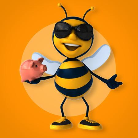 caricatura mosca: abeja de la diversión