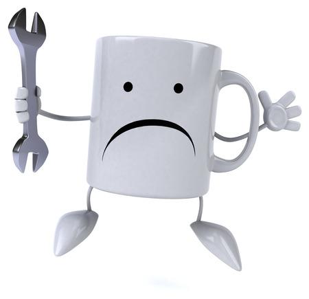 drink tools: Fun mug Stock Photo