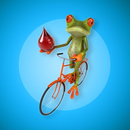 eye red: Fun frog