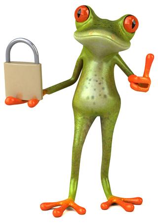 tea tree: Fun frog