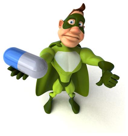 human body substance: Fun superhero