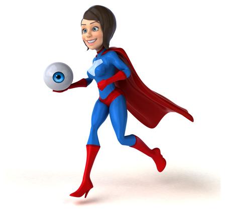 health care fight: Super woman Stock Photo
