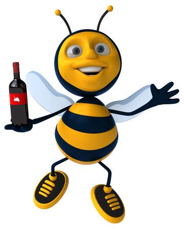 bee cartoon: Fun bee Stock Photo