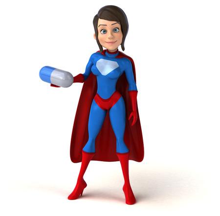 human body substance: Super woman Stock Photo
