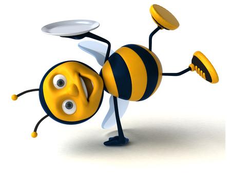 intermittent: Fun bee Stock Photo