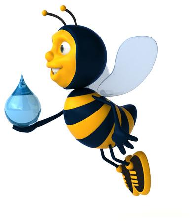 waterdrops: Fun bee Stock Photo