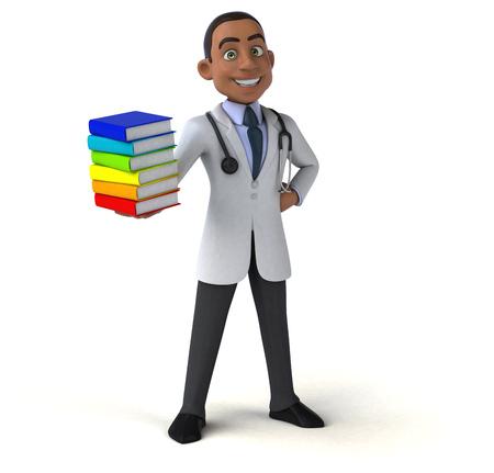 african teacher: Fun doctor Stock Photo