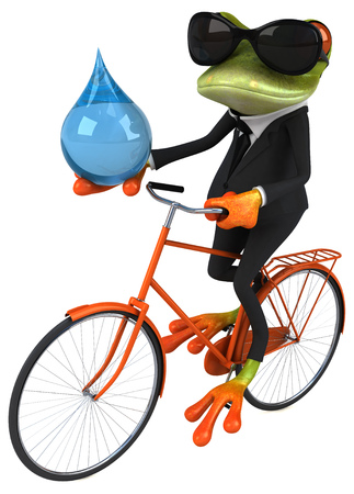 cycle suit: Fun frog