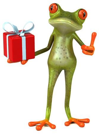 christmas frog: Fun frog