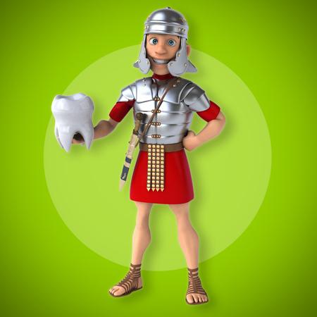 health care fight: Roman soldier