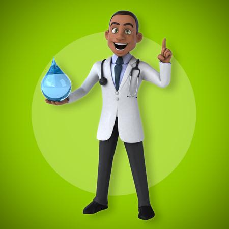 doctor examine: Fun doctor Stock Photo