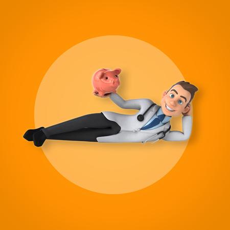 a physician: Fun doctor Stock Photo